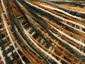Fiber Content 70% Acrylic, 30% Wool, Brand Ice Yarns, Grey, Cream, Brown, Black, fnt2-71110