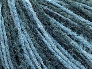 Fiber Content 50% Wool, 50% Acrylic, Brand Ice Yarns, Blue Shades, fnt2-71136