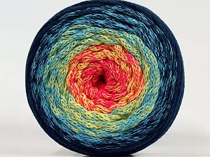 Please be advised that yarns are made of recycled cotton, and dye lot differences occur. Fiber Content 100% Cotton, Yellow, Turquoise, Pink, Navy, Brand Ice Yarns, fnt2-71153