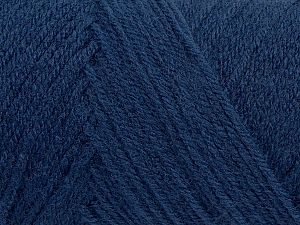 Items made with this yarn are machine washable & dryable. Fiber Content 100% Acrylic, Brand Ice Yarns, Dark Jeans Blue, fnt2-71187