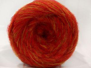 Fiber Content 77% Acrylic, 21% Polyamide, 2% Elastan, Red, Light Olive Green, Brand Ice Yarns, fnt2-71279