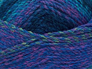 Fiber Content 100% Acrylic, Turquoise Shades, Pink, Brand Ice Yarns, Green, fnt2-71637