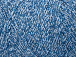 Fiber Content 100% Acrylic, Light Grey, Brand Ice Yarns, Blue, fnt2-71680