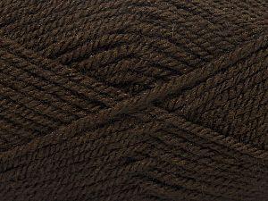 Fiber Content 100% Acrylic, Brand Ice Yarns, Dark Brown, fnt2-71709