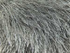 Fiber Content 100% Polyester, Brand Ice Yarns, Grey, Yarn Thickness 6 SuperBulky  Bulky, Roving, fnt2-14163
