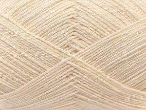 Fiber Content 60% Merino Wool, 40% Acrylic, Brand Ice Yarns, Cream, Yarn Thickness 2 Fine  Sport, Baby, fnt2-21090