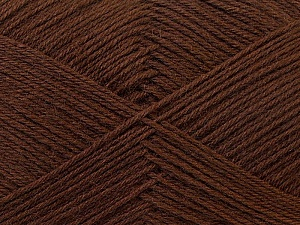 Fiber Content 60% Merino Wool, 40% Acrylic, Brand Ice Yarns, Dark Brown, Yarn Thickness 2 Fine  Sport, Baby, fnt2-21093