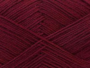 Fiber Content 60% Merino Wool, 40% Acrylic, Brand Ice Yarns, Burgundy, Yarn Thickness 2 Fine  Sport, Baby, fnt2-21109