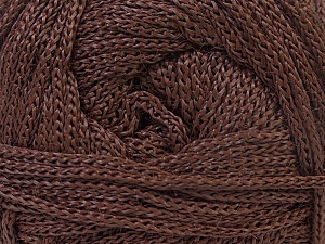 Width is 3 mm Fiber Content 100% Polyester, Brand Ice Yarns, Brown, fnt2-21639