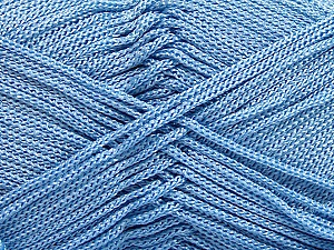 Width is 3 mm Fiber Content 100% Polyester, Light Blue, Brand Ice Yarns, fnt2-21647