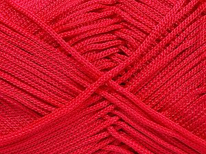 Width is 3 mm Fiber Content 100% Polyester, Red, Brand Ice Yarns, fnt2-21650
