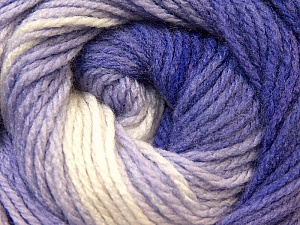 Fiber Content 100% Acrylic, White, Purple, Lilac, Brand Ice Yarns, Yarn Thickness 3 Light  DK, Light, Worsted, fnt2-22023