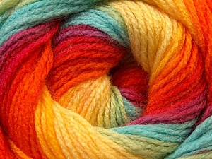 Fiber Content 100% Acrylic, Red, Orange, Brand Ice Yarns, Green, Blue, Yarn Thickness 3 Light  DK, Light, Worsted, fnt2-22033