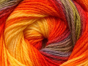 Fiber Content 100% Acrylic, Yellow, Orange, Brand Ice Yarns, Green, Camel, Yarn Thickness 3 Light  DK, Light, Worsted, fnt2-22036