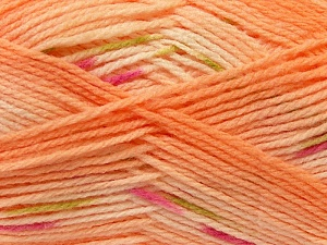 Fiber Content 100% Baby Acrylic, Pink, Light Orange, Brand Ice Yarns, Green, Yarn Thickness 2 Fine  Sport, Baby, fnt2-22040
