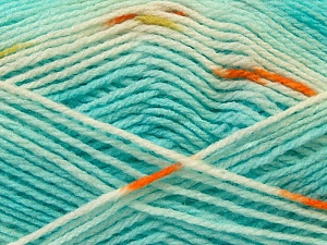 Fiber Content 100% Baby Acrylic, White, Turquoise, Brand Ice Yarns, Copper, Yarn Thickness 2 Fine  Sport, Baby, fnt2-22044