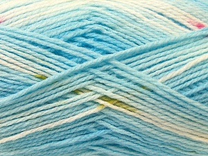Fiber Content 100% Baby Acrylic, White, Pink, Brand Ice Yarns, Blue, Yarn Thickness 2 Fine  Sport, Baby, fnt2-22045