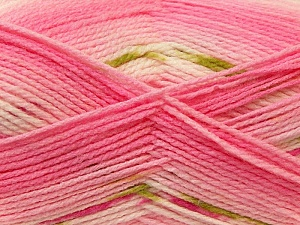 Fiber Content 100% Baby Acrylic, White, Pink, Brand Ice Yarns, Green, Yarn Thickness 2 Fine  Sport, Baby, fnt2-22047