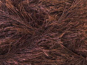 Fiber Content 100% Polyester, Brand Ice Yarns, Dark Brown, Yarn Thickness 5 Bulky  Chunky, Craft, Rug, fnt2-22708