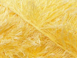 Fiber Content 100% Polyester, Light Yellow, Brand Ice Yarns, Yarn Thickness 5 Bulky  Chunky, Craft, Rug, fnt2-22709