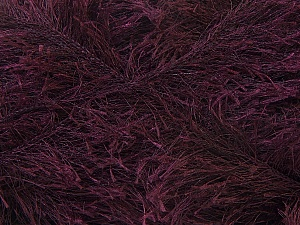 Fiber Content 100% Polyester, Brand Ice Yarns, Dark Maroon, Yarn Thickness 5 Bulky  Chunky, Craft, Rug, fnt2-22718