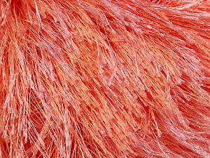Fiber Content 100% Polyester, Light Salmon, Brand Ice Yarns, Yarn Thickness 5 Bulky  Chunky, Craft, Rug, fnt2-22759