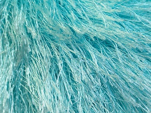 Fiber Content 100% Polyester, Light Turquoise, Brand Ice Yarns, Yarn Thickness 5 Bulky  Chunky, Craft, Rug, fnt2-22777