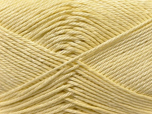 Fiber Content 100% Mercerised Cotton, Light Yellow, Brand Ice Yarns, Yarn Thickness 2 Fine  Sport, Baby, fnt2-23328