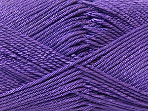 Fiber Content 100% Mercerised Cotton, Purple, Brand Ice Yarns, Yarn Thickness 2 Fine  Sport, Baby, fnt2-23335