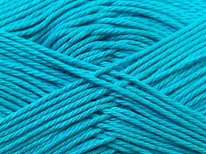 Fiber Content 100% Mercerised Cotton, Turquoise, Brand Ice Yarns, Yarn Thickness 2 Fine  Sport, Baby, fnt2-23338