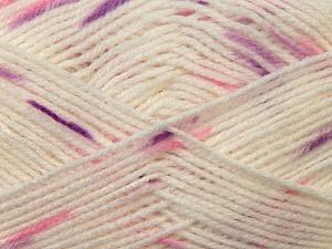 Fiber Content 100% Baby Acrylic, White, Purple, Brand Ice Yarns, Fuchsia, Yarn Thickness 2 Fine  Sport, Baby, fnt2-23500