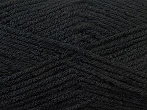 Worsted Fiber Content 100% Acrylic, Brand Ice Yarns, Black, Yarn Thickness 4 Medium Worsted, Afghan, Aran, fnt2-23720