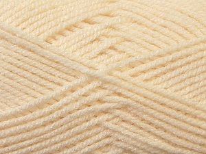 Worsted  Fiber Content 100% Acrylic, Brand Ice Yarns, Cream, Yarn Thickness 4 Medium  Worsted, Afghan, Aran, fnt2-23722
