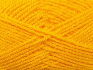 Worsted Fiber Content 100% Acrylic, Yellow, Brand Ice Yarns, Yarn Thickness 4 Medium Worsted, Afghan, Aran, fnt2-23726