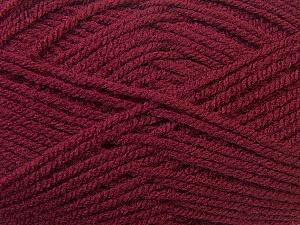 Worsted Fiber Content 100% Acrylic, Brand Ice Yarns, Burgundy, Yarn Thickness 4 Medium Worsted, Afghan, Aran, fnt2-23728