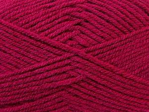 Worsted Fiber Content 100% Acrylic, Brand Ice Yarns, Dark Pink, Yarn Thickness 4 Medium Worsted, Afghan, Aran, fnt2-23731