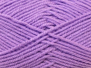 Worsted  Fiber Content 100% Acrylic, Lilac, Brand Ice Yarns, Yarn Thickness 4 Medium  Worsted, Afghan, Aran, fnt2-23734