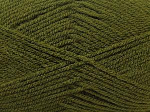 Worsted Fiber Content 100% Acrylic, Brand Ice Yarns, Dark Green, Yarn Thickness 4 Medium Worsted, Afghan, Aran, fnt2-23739