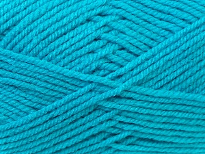 Worsted  Fiber Content 100% Acrylic, Turquoise, Brand Ice Yarns, Yarn Thickness 4 Medium  Worsted, Afghan, Aran, fnt2-23744