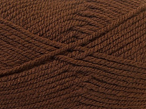 Bulky  Fiber Content 100% Acrylic, Brand Ice Yarns, Brown, Yarn Thickness 5 Bulky  Chunky, Craft, Rug, fnt2-23749
