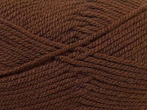Bulky  Fiber Content 100% Acrylic, Brand Ice Yarns, Brown, Yarn Thickness 5 Bulky  Chunky, Craft, Rug, fnt2-23749