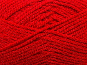 Bulky  Fiber Content 100% Acrylic, Red, Brand Ice Yarns, Yarn Thickness 5 Bulky  Chunky, Craft, Rug, fnt2-23752