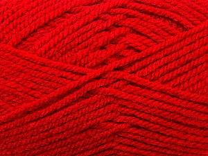Bulky  Fiber Content 100% Acrylic, Red, Brand Ice Yarns, Yarn Thickness 5 Bulky  Chunky, Craft, Rug, fnt2-23752