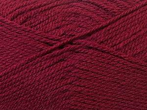 Bulky  Fiber Content 100% Acrylic, Brand Ice Yarns, Burgundy, Yarn Thickness 5 Bulky  Chunky, Craft, Rug, fnt2-23753