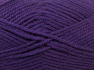 Bulky  Fiber Content 100% Acrylic, Purple, Brand Ice Yarns, Yarn Thickness 5 Bulky  Chunky, Craft, Rug, fnt2-23755