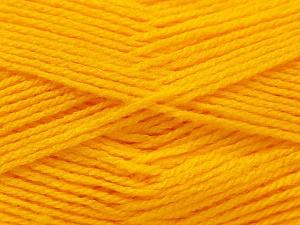 Fiber Content 100% Baby Acrylic, Yellow, Brand Ice Yarns, Yarn Thickness 2 Fine  Sport, Baby, fnt2-23773