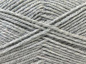 Worsted Fiber Content 100% Acrylic, Brand Ice Yarns, Grey, Yarn Thickness 4 Medium Worsted, Afghan, Aran, fnt2-23889