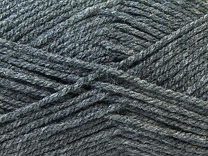 Worsted Fiber Content 100% Acrylic, Brand Ice Yarns, Dark Grey, Yarn Thickness 4 Medium Worsted, Afghan, Aran, fnt2-23890