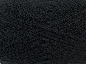 Bulky  Fiber Content 100% Acrylic, Brand Ice Yarns, Black, Yarn Thickness 5 Bulky  Chunky, Craft, Rug, fnt2-24499