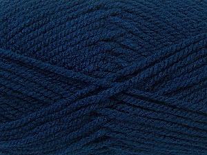 Bulky  Fiber Content 100% Acrylic, Navy, Brand Ice Yarns, Yarn Thickness 5 Bulky  Chunky, Craft, Rug, fnt2-24502